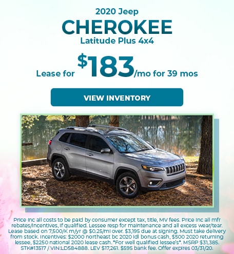 March 2020 Jeep Cherokee Lease