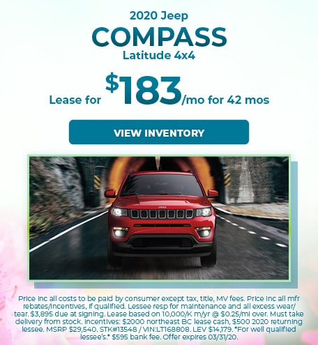 March 2020 Jeep Compass Lease
