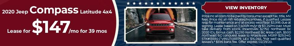 February 2020 Jeep Compass Lease