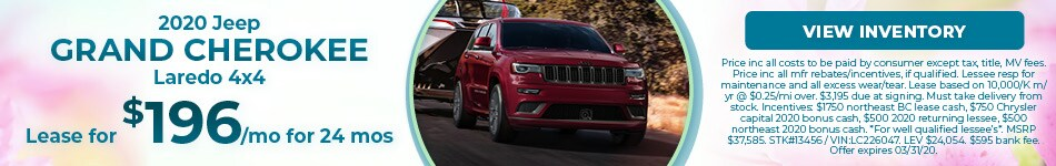 March 2020 Jeep Grand Cherokee Lease