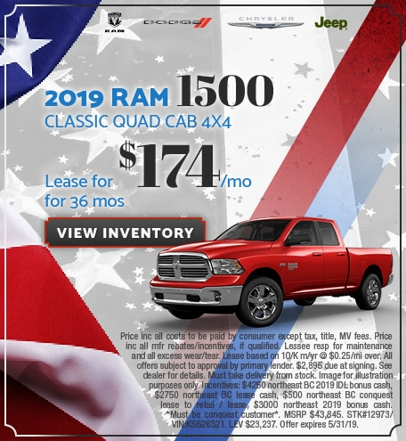 May 2019 RAM 1500 Classic Lease