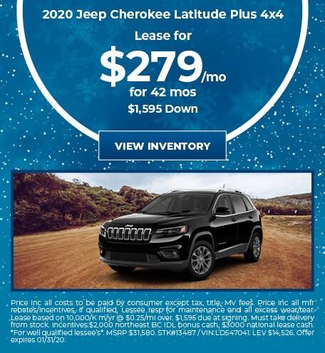 January 2020 Jeep Cherokee Lease