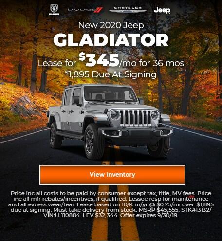 September 2020 Gladiator Lease Offer