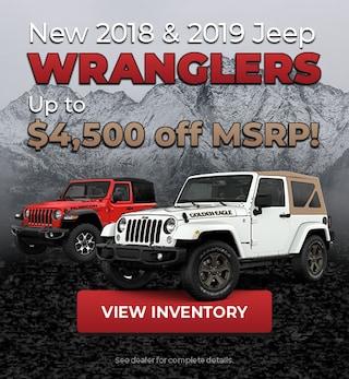 2018/2019 Jeep Wrangler Offer
