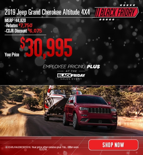 2019 Jeep Grand Cherokee - November Offer