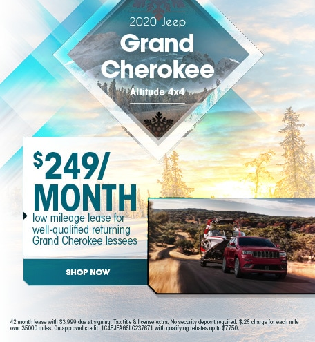2020 Jeep Grand Cherokee - January Offer