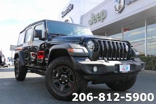 Used 2018 Jeep Wrangler Unlimited Sport 4x4 SUV 1C4HJXDN9JW228172 111607A for sale in Seattle, WA