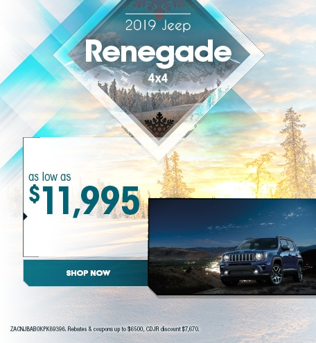 2019 Jeep Renegade - January Offer