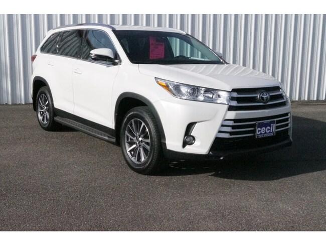 New 2019 Toyota Highlander XLE V6 SUV in Orange, TX