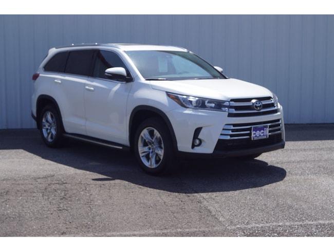 New 2019 Toyota Highlander Limited V6 SUV in Orange, TX
