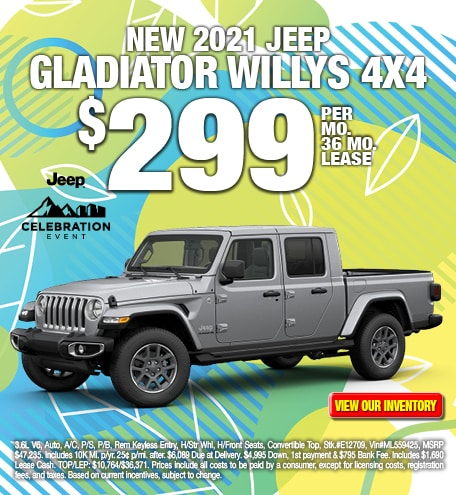 Jeep Gladiator Willys Lease Special Offer