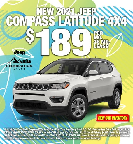 Jeep Compass Latitude Lease Special Offer