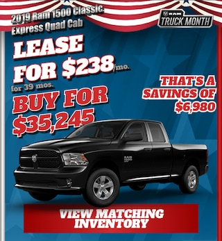 2019 Ram 1500 Classic Special Offer