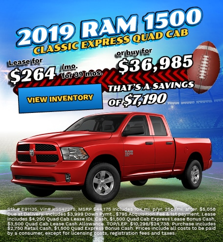 Ram 1500 Classic Special Offers