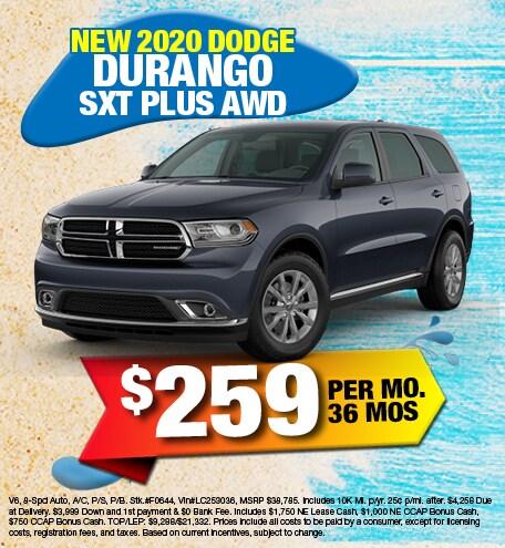 Dodge Durango SXT Plus Lease Offer