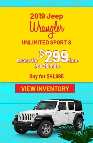 Jeep Wrangler Unlimited Sport S Special Offer
