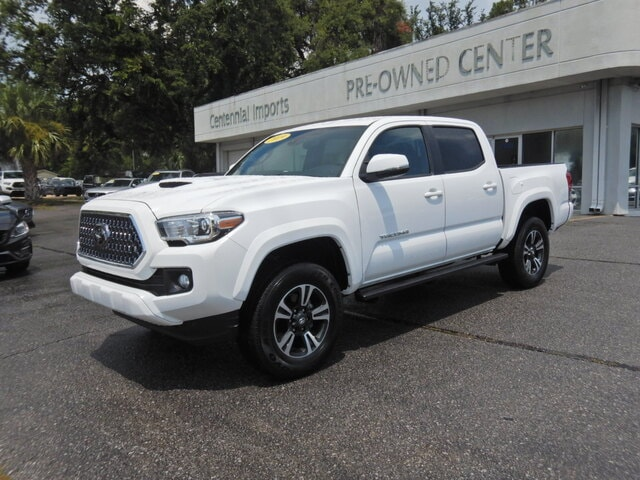 Featured Used 2019 Toyota Tacoma SR V6 Truck Double Cab 5TFCZ5AN4KX211402 for sale in Pensacola, FL