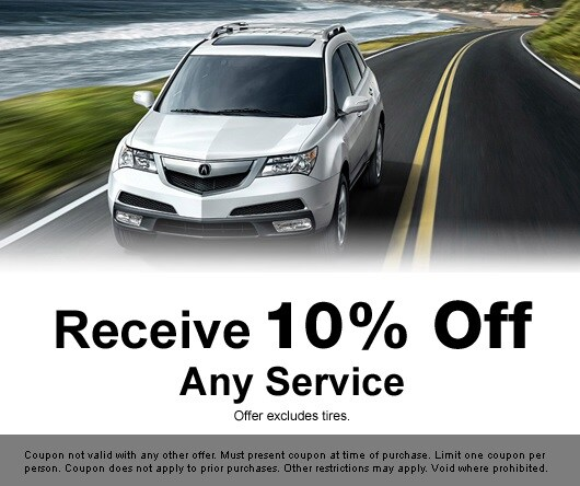 Acura Service Specials Deals On Car Maintenance In The Los Angeles - Acura dealer service coupons