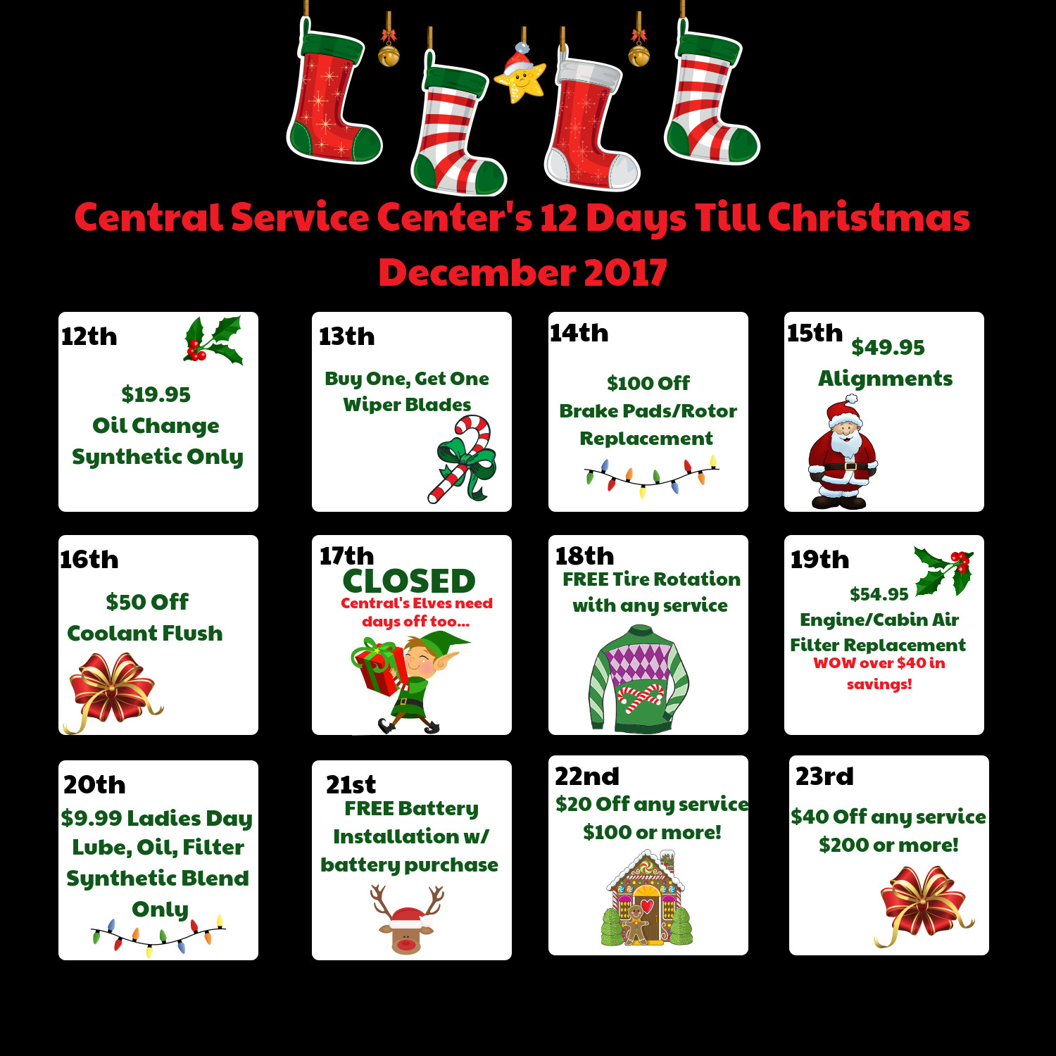 schedule service - 12 Days Till Christmas