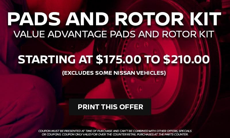 VALUE ADVANTAGE PADS AND ROTOR KIT