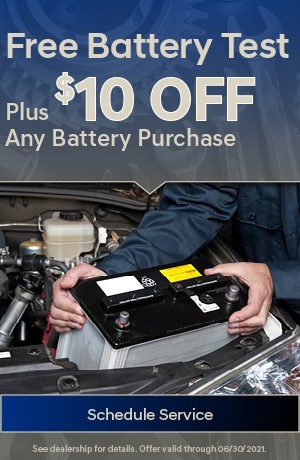 Free Battery Test + $10 OFF Any Battery Purchase
