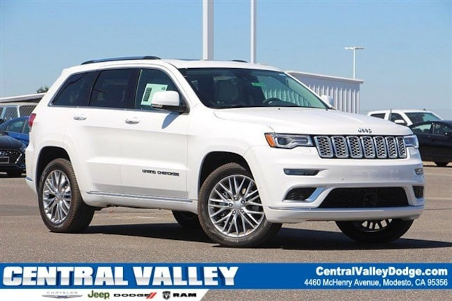 New 2018 Jeep Grand Cherokee SUMMIT 4X4 Sport Utility for sale in Modesto, CA at Central Valley Chrysler Jeep Dodge Ram