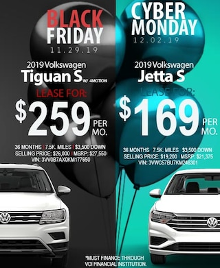 Black Friday All Month Long Jetta