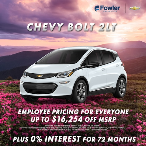 2021 Chevy Bolt Specials - April