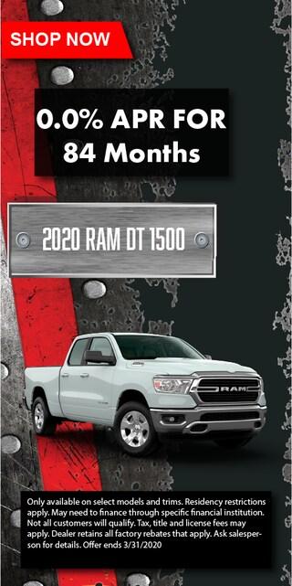 2020 Ram DT 1500 0%