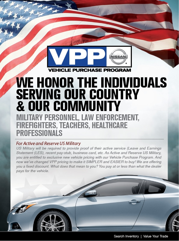 Military Specials   Vehicle Purchase Program