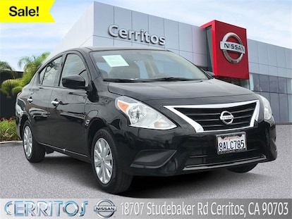Used Nissan Versa >> Used Super Black 2018 Nissan Versa 1 6 Sv For Sale In Cerritos Ca R28534 Cerritos Used Nissan For Sale 3n1cn7apxjl814067