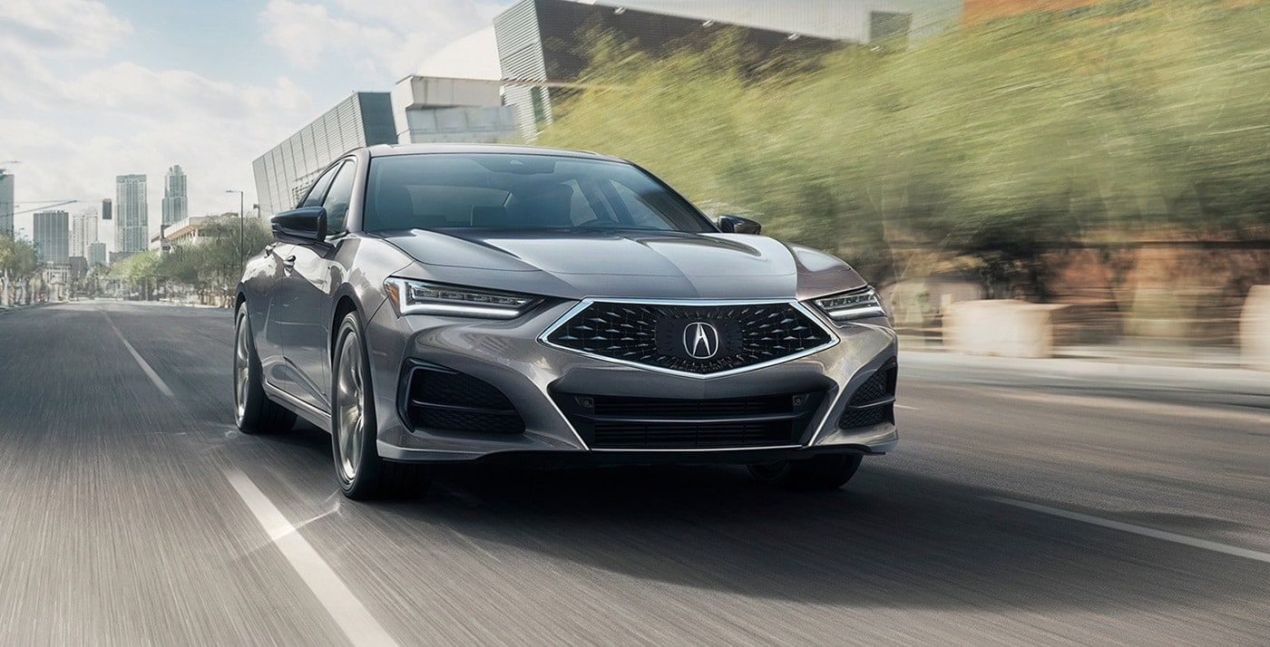 2021 Acura TLX in Modern Steel Metallic