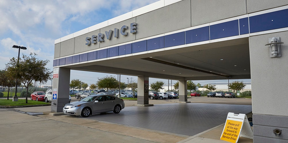 Exterior of AutoNation Acura Gulf Freeway Service Center