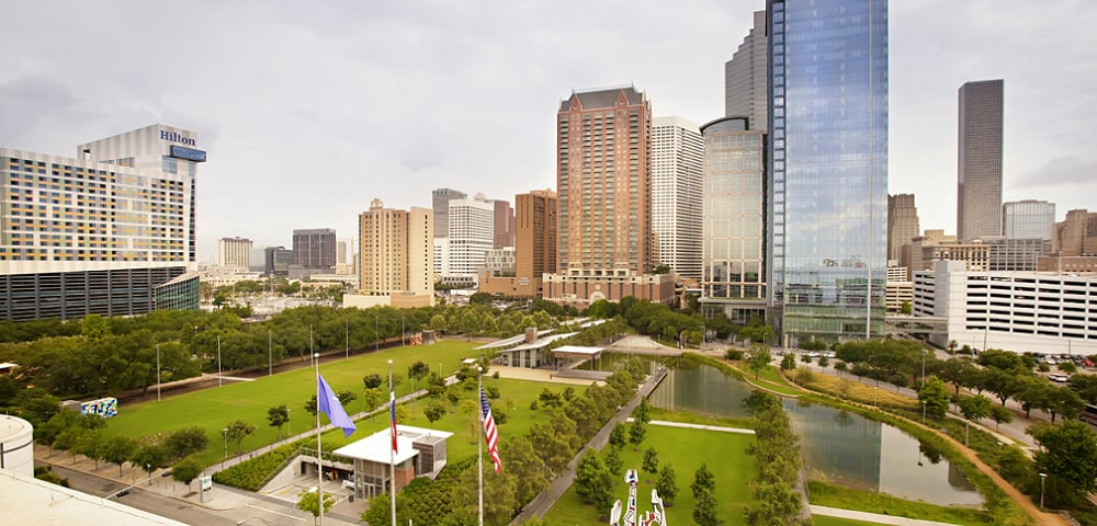 Scenic view of Houston, TX