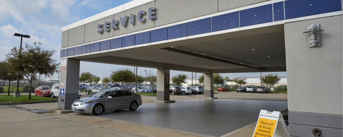 AutoNation Acura Gulf Freeway service center entrance