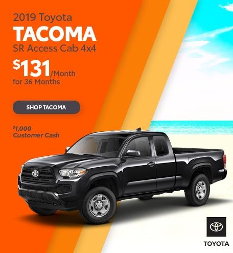 New 2019 Toyota Tacoma SR Access Cab 4x4