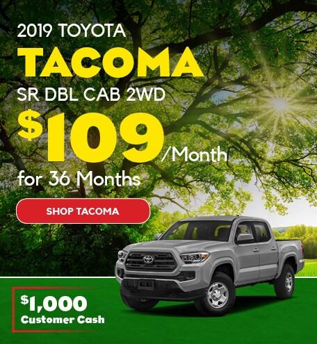 May 2019 Toyota Tacoma Lease