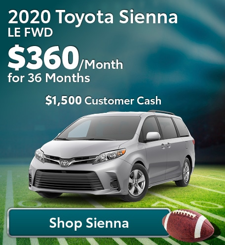 New 2020 Toyota Sienna LE FWD