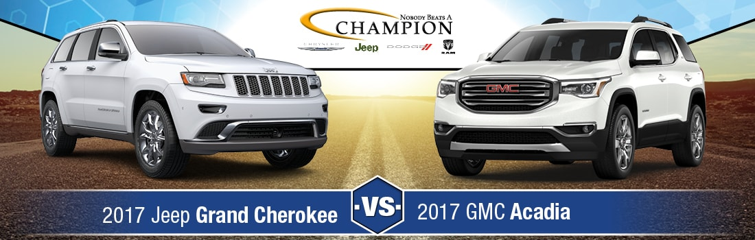 Gmc Acadia Vs Jeep Grand Cherokee 2017 | Best new cars for 2018