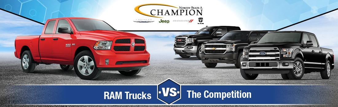 RAM trucks versus the competition