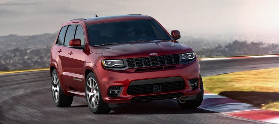 2017 Jeep Grand Cherokee On Race Track