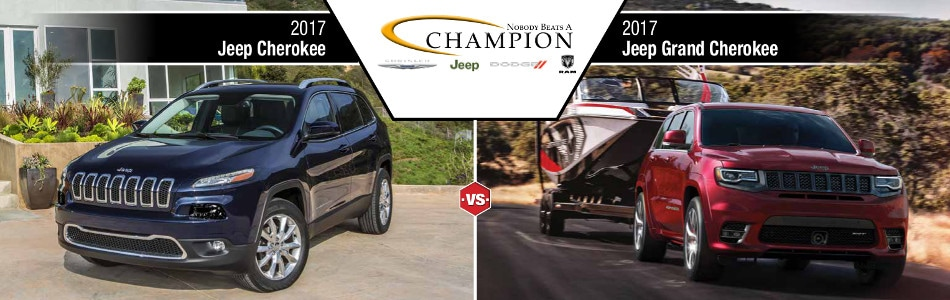 2017 Jeep Grand Cherokee vs 2017 Jeep Cherokee  Indianapolis IN