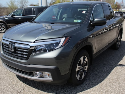 Featured used  2019 Honda Ridgeline RTL-E with Navigation, Moonroof,  Adaptive Cruise Control,  Heated Leather Buckets,  Remote Start,  Trailer Tow Pkg.  Homelink,  Bluetooth System  AWD / All Wheel Drive  3.5L V6 Truck for sale in Edinboro, PA