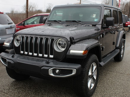 Featured used  2019 Jeep Wrangler Unlimited Sahara 24G Pkg. with Cold Weather Grp. LED Lightin SUV for sale in Edinboro, PA