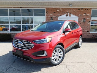 2020 Ford Edge Titanium 301A w/ Navigation, Panoramic Vista Roof, Adaptive Cruise Control, Class II Trailer Tow Pkg. Heated & Cooled Buckets, FordPass Connect WiFi HotSpot Modem & Sync3 BlueTooth System AWD / 4x4  Twin Scroll 2.0L I4 EcoBoost  SUV / Crossover