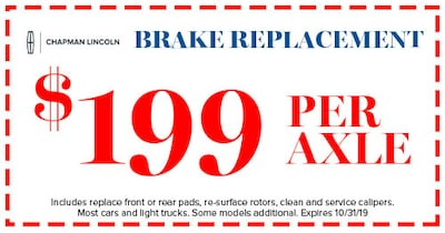 Brake Replacement Special