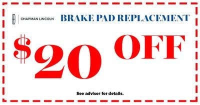 $20 Off Brake Pad Replacement