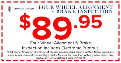 Four Wheel Alignment + Brake Inspection