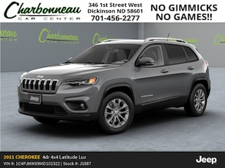New 2021 Jeep Cherokee LATITUDE LUX 4X4 Sport Utility For Sale Dickinson ND