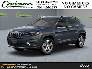 New 2020 Jeep Cherokee LIMITED 4X4 Sport Utility For Sale Dickinson ND
